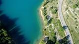 France Provence Verdon Lac de Sainte Croix vue du ciel