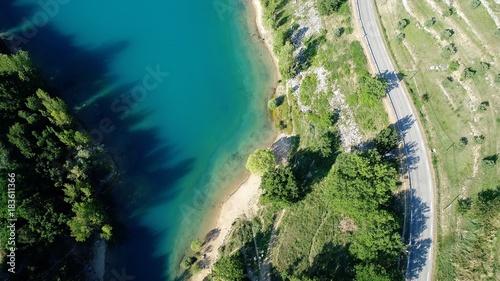 France Provence Verdon Lac de Sainte Croix vue du ciel - 183611366