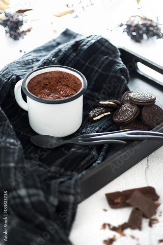 Foto op Canvas Chocolade hot chocolate