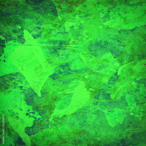 Abstract green grunge texture - 183616541
