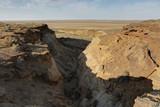 View Mingbulak depression on the territory of Kyzylkum desert.Uzbekistan. - 183619944
