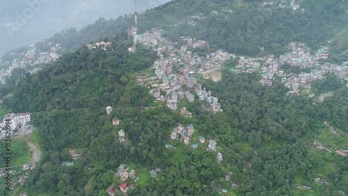 Deurstickers Khaki Inde Sikkim Gangtok vue du ciel