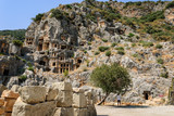 Ancient city of Myra near Demre. Turkey, tombs made in the rock - 183623385