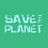 Save the planet. Grunge modern illustration. Typography banner. Vector illustration. - 183630558