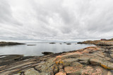 Rocky landscape on island in Stockholm archipelago. - 183639394