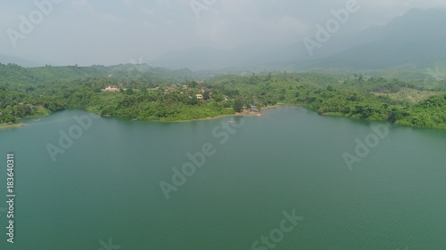 Laos Viang Vieng vue du ciel