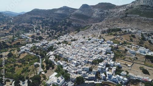 Fotobehang Nachtblauw Grèce Cyclades île de Naxos vue du ciel