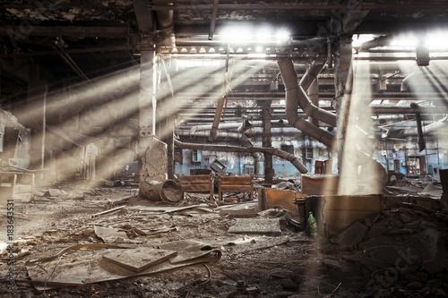 Staande foto Oude verlaten gebouwen Abandoned factory