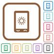 Mobile display brightness simple icons
