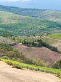 Tuscan landscape in Italy - 183646988