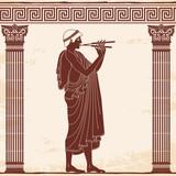 Vector Greek vase. - 183660529