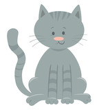 Cute Domestic Cat Cartoon Animal Character Wall Sticker
