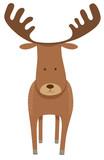 deer or moose cartoon animal character - 183661149