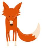 cute cartoon red fox animal character - 183661160
