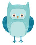 cute owl bird animal character - 183661174