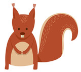 cute squirrel cartoon animal character - 183661186