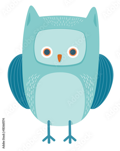 Plexiglas Uilen cartoon cute owl bird animal character