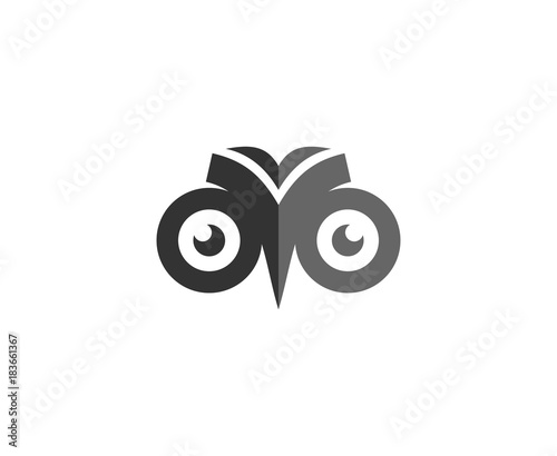 In de dag Uilen cartoon Owl logo