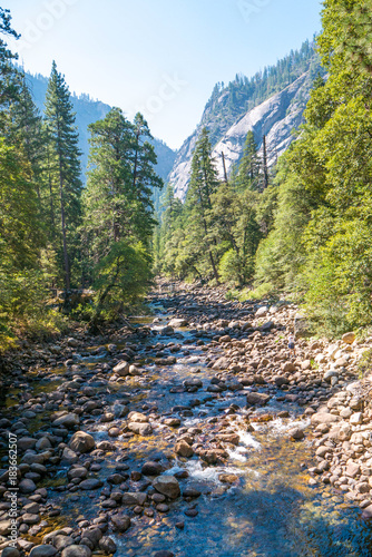 Fotobehang Bergrivier Yosemite National Park