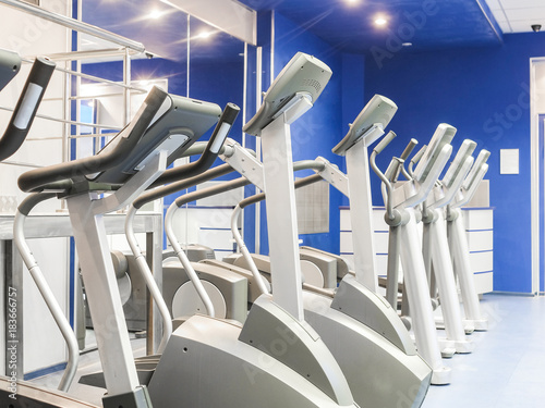 Sticker Interior of a fitness hall