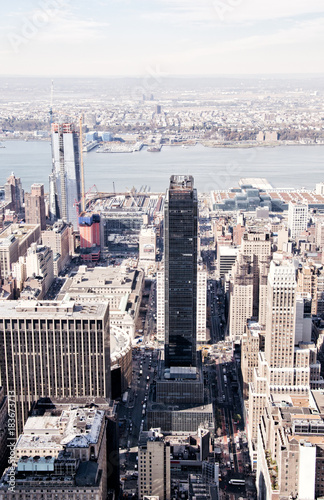 New York City skyscrapers, high angle view