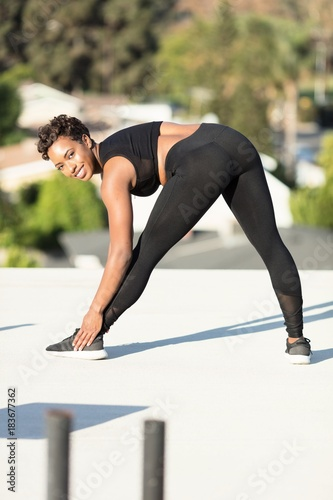 Sticker Woman posing in workout outfit