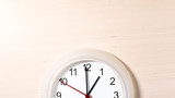 Clock ticking showing one hour - 183678348