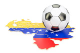 Football ball with map of Venezuela concept, 3D rendering - 183678384