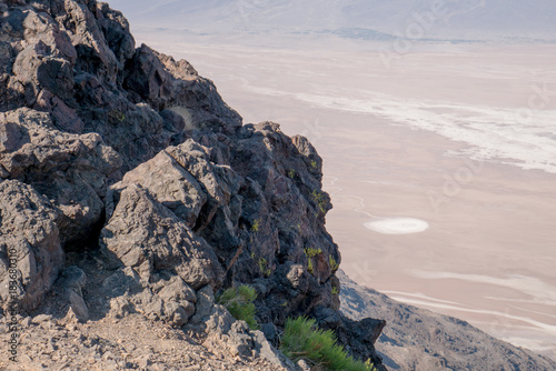 In de dag Bleke violet Death Valley