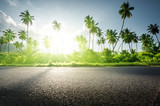 empty road in jungle of Seychelles islands - 183681735