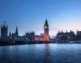 Big Ben and Westminster at sunset, London, UK - 183681742