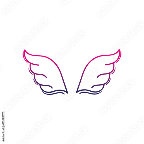 color line wings element style element design