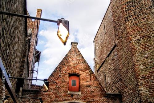 Fotobehang Brugge Bruges City Center Spotlight