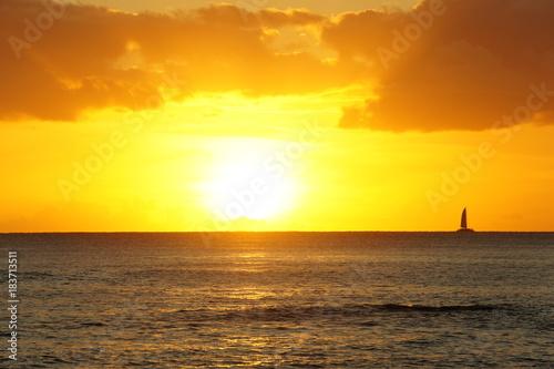 Poster Zee zonsondergang SONY DSC