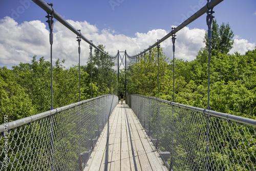 Sticker Suspension bridge in Collinwood, Ontario