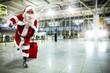 santa claus and suitcase