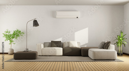 Ordinaire Living Room With Sofa And Air Conditioner