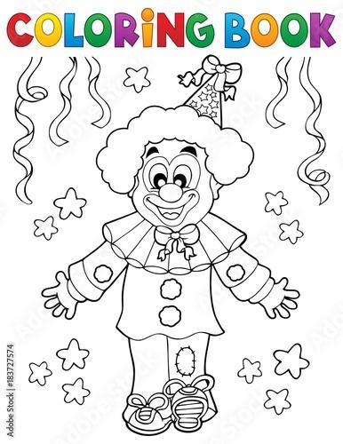 Papiers peints Enfants Coloring book clown thematics 2