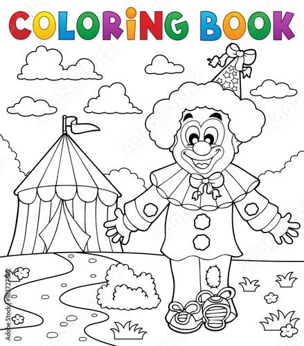 Papiers peints Enfants Coloring book clown thematics 3