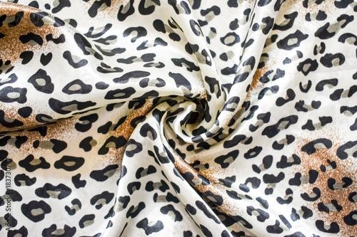 Fototapeta handkerchief in leopard print, fashion accessory clothes
