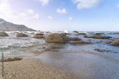 Keuken foto achterwand Blauwe hemel ocean landscape with many rocks