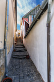 one of the many narrow streets of the old Hungarian town of Szentendre