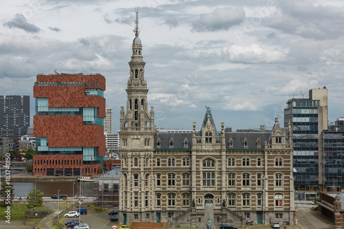 Plexiglas Antwerpen View of traditional architecture in Antwerp in Belgium.
