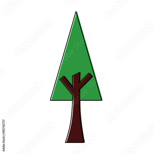 green tree nature forest plant image vector illustration