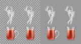 Transparent turkish cup with hot black tea - 183743139