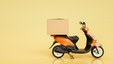 Fototapety Item boxes are on motorcycles. 3d rendering and illustration.