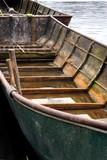 Grünes Boot am Ufer des Fleesensees - 183754737