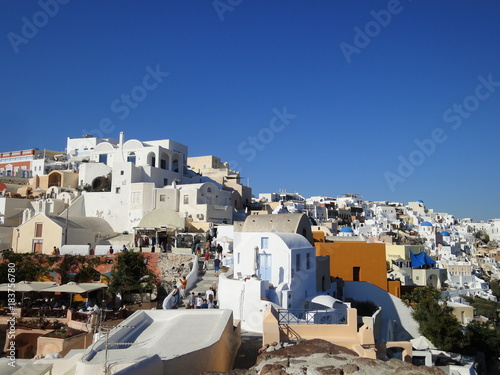 Deurstickers Santorini Beautiful white houses around Oia, Santorini