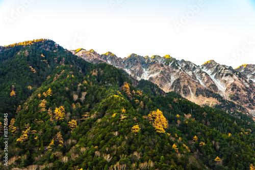 Tuinposter Herfst Mountain scenery