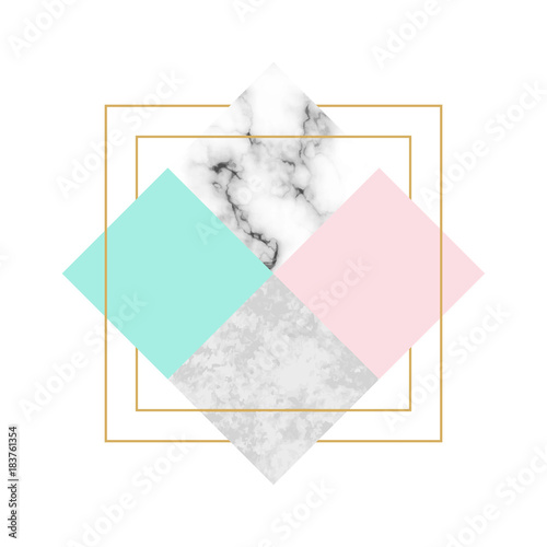 Vector trendy geometric background. Modern scandinavian design for poster, card, invitation template, covers and layouts - 183761354